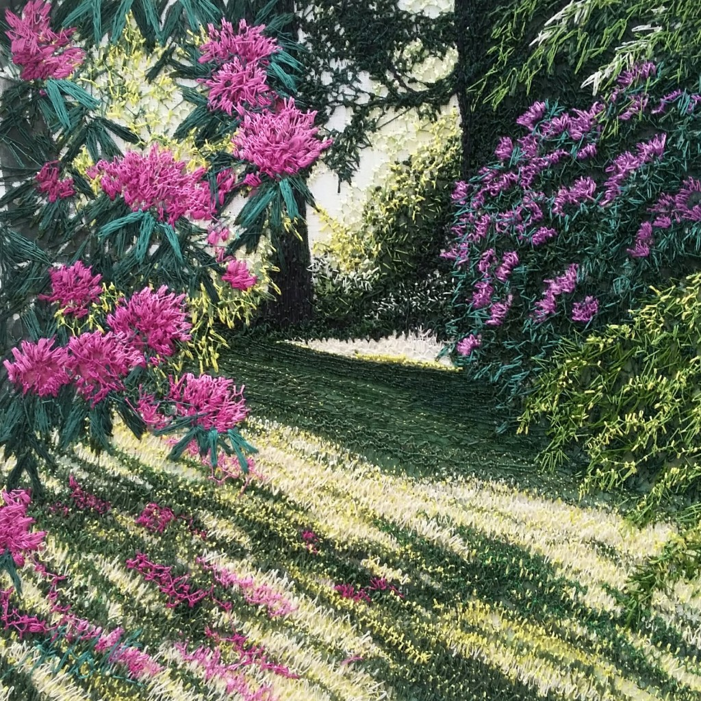 Sunlit Rhododendrons
